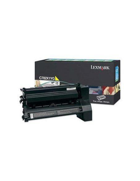 Tóner Lexmark C782X1YG Amarillo para C782 X782