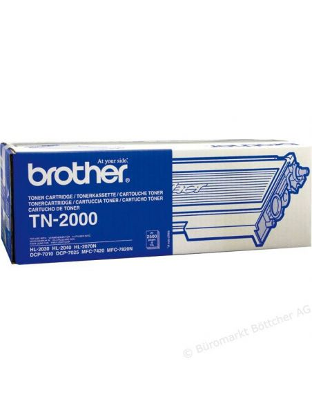 Tóner Brother TN2000 Negro (2500 Pag) para DCP7010 y mas