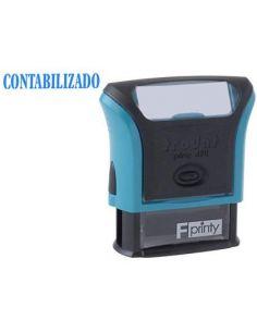 Sello entintado 4911 f8 p3 CONTABILIZADO almohadilla azul
