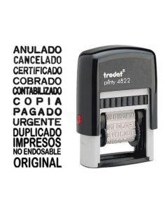 Sello multiformula 12 textos entintaje automatico 4mm printy 4822