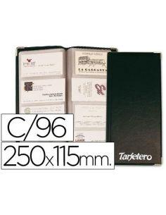 Tarjetero durable din A4 4 anillas 20 fundas c/indice alfabetico (400 tarjetas) 2409-01