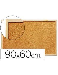 Pizarra corcho 90x60 cm marco de madera KF03567