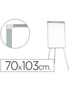 Pizarra blanca con tripode 85x60cm para convenciones lacadamagnetica escritura directa KF04157