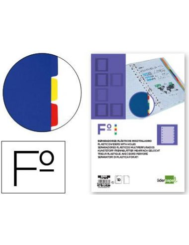 Separador plastico juego de 10 separadores folio 16 taladros SP01