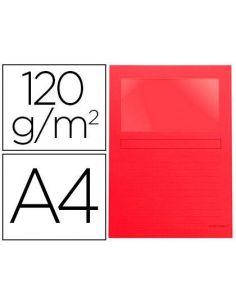 Subcarpetas A4 con ventana (100 Unid) ROJO 502942