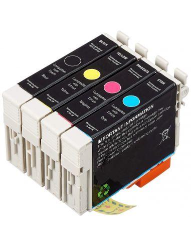 Tinta Pack para Epson T0711,T0712,T0713,T0714 y mas (4 cartuchos) No original
