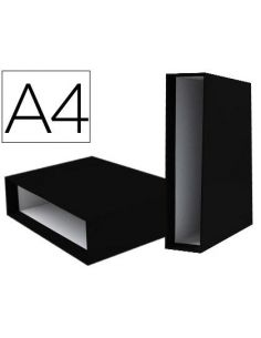 Caja para archivador de palanca A4 Lomo 82mm Negro