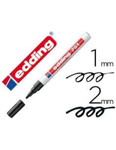 Marcador permanente Edding 751-01 Negro opaca punta conica 1-2mm