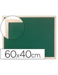 Pizarra verde para tizas con marco de madera 40x60cm KF03584