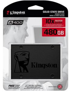 "Disco Duro Solido Kingston SSD 480GB 2.5"" SATA3 A400 SA400S37/480G (+LPI 5,45€)"