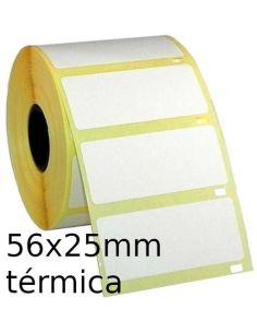 Rollo de etiquetas 56x25mm térmicas (1000 Unid) 52251000
