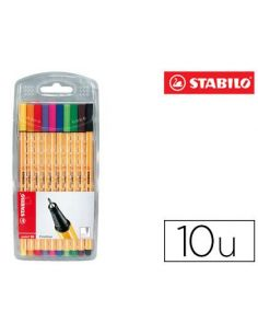 Rotulador stabilo punta de fibra point 88 (10 colores surtidos) 8810