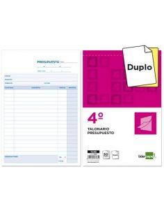 Talonario presupuesto cuarto original y copia t230