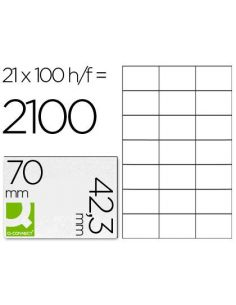 Etiqueta adhesiva 70x42,3 mm fotocopiadora laser ink-jet (100 hojas) din A4 KF10649
