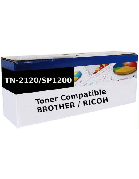 Tóner para Brother TN2120 / SP1200 Negro (2600 Pag) No original para DCP7030 y mas