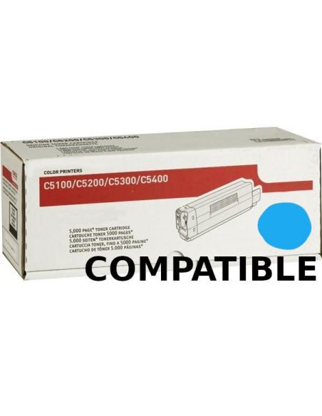 Tóner para Oki C5100C Cian 42127407 (5000 Pag) No original para C3100 C3200