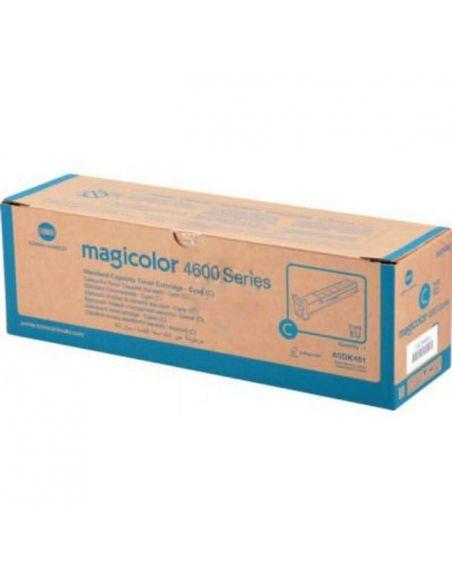 Tóner Konica Minolta 4600 Cian A0DK451 (4000 Pag) para Magicolor 4650