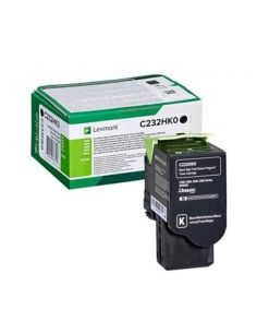 Tóner Lexmark C232HK0 Negro para C2325 C2425