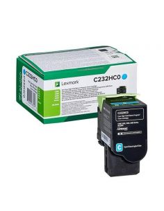 Tóner Lexmark C232HC0 Cian para C2325 C2425