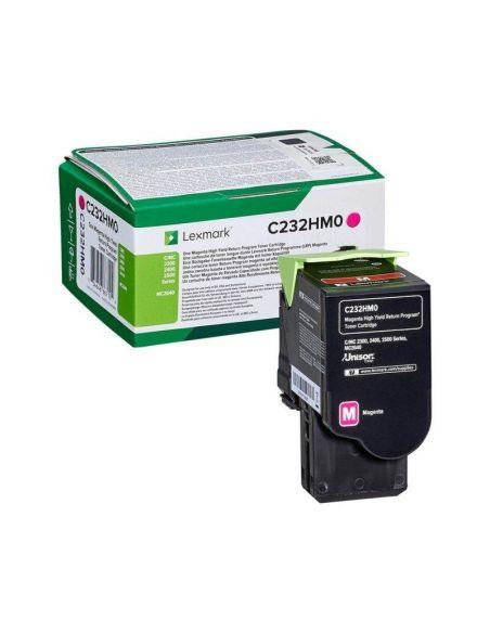 Tóner Lexmark C232HM0 MAGENTA (2300 Pag) para C2325 y mas