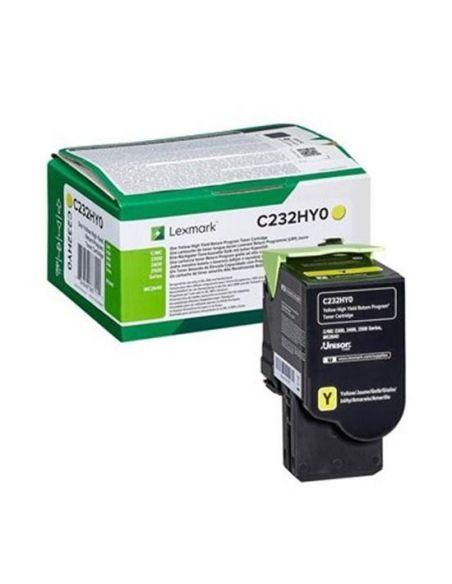 Tóner Lexmark C232HY0 AMARILLO (2300 Pag) para C2325 y mas