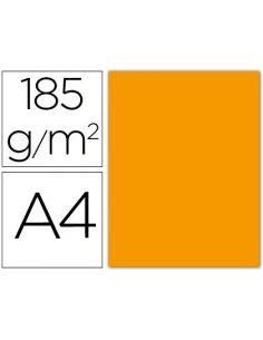 Cartulina guarro din a4 mandarina 185 gr paquete 50 h 200040157