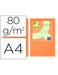 Papel multifuncion A4 Naranja intenso 80g ink-jet y laser (500 hojas)