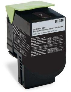 Tóner para Lexmark 802SK NEGRO 80C2SK0 (2500 Pág) No original