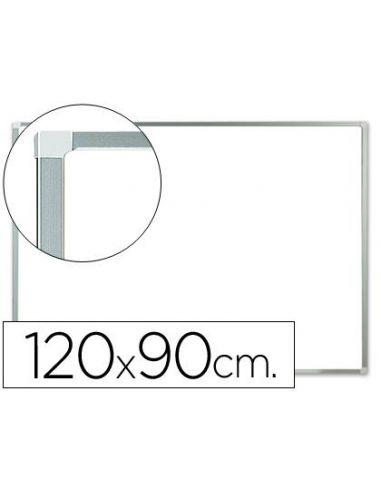 Pizarra blanca magnetica con marco de aluminio 90x120cm KF01080
