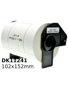 Rollo de etiquetas continuas para Brother DK11241 102x152mm Blanco No original
