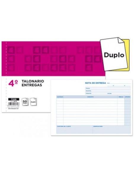 Talonario Nota de entrega cuarto con copia 144x210mm T229 apaisado