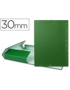 Carpeta proyectos Folio lomo 30mm carton forrado verde PY35
