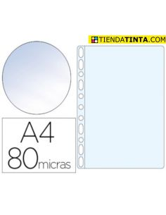 Fundas multitaladro portadocumentos A4 80mic Cristal (100 Unid) Esselte 46108