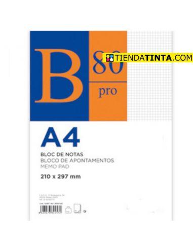 Bloc de notas A4 80h. 60g Cuadricula 5x5 encolado superior