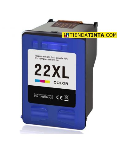Tinta para HP 22XL Color (415 Pag) No original