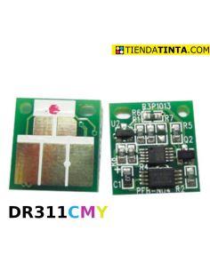Chip para tambor DR311 C,M,Y para Develop Konica Minolta y Olivetti