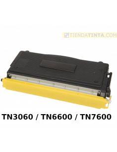 Tóner compatible Brother TN3060 TN6600 TN7600 Negro (6000 Pag) para DCP8020 y mas