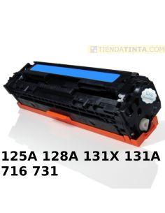 Tóner compatible HP 125A/716C/731C CIAN (1500 Pag) para CM1013 y mas