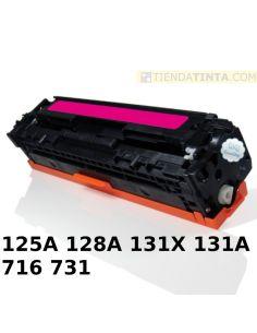 Tóner compatible HP 125A/716M/731M MAGENTA (1400 Pag) para CM1013 y mas
