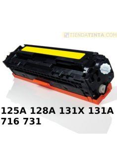 Tóner compatible HP 125A/716Y/731Y AMARILLO (1400 Pag) para CM1013 CP1210
