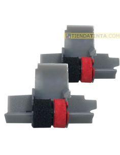 Rodillo Pack para Olivetti Negro/Rojo entintado IR40T (pack 2 Unid) No original