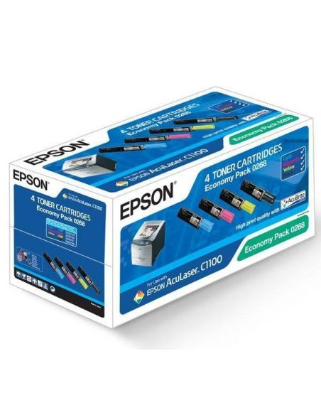 Tóner Pack Epson 0268 BK/C/M/Y