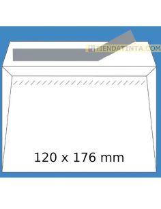 Sobres 120x176mm blanco autoadhesivo 90gr (500 unid)