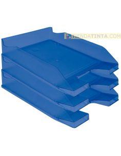 Bandeja documentos 342x240 plastico Azul Translúcido