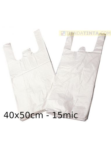 Bolsa de plástico camiseta 40x50cm...