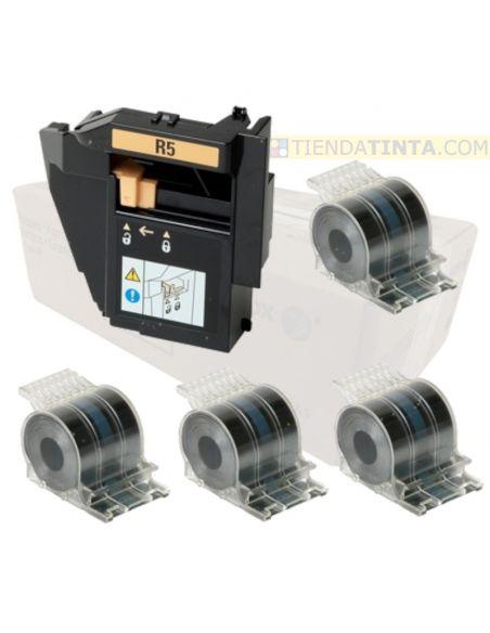 Grapas para Xerox 008R13041 (5000 grapas x 4 cartuchos) + Staple Waste Bin R5