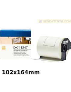 Rollo etiquetas para Brother 103x164mm (180 Unid) no originales DK11247