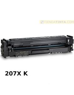 Tóner compatible HP 207X Negro W2210X (3150 Pag) para M283 y mas