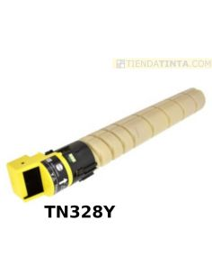 Tóner compatible Konica Minolta TN328Y AMARILLO AAV8250 (28000 Pag) para C250i y más