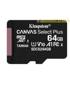 Tarjeta de memoria MICROSD 64Gb 100Mb/s (+LPI 0,24€)